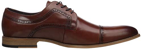 Stacy Adams Men's Dickinson Cap Toe Oxford, Cognac, 10 M US