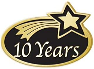 10 Years Achievement Pins - Years of Service Employee Pins 1 Pack Prime