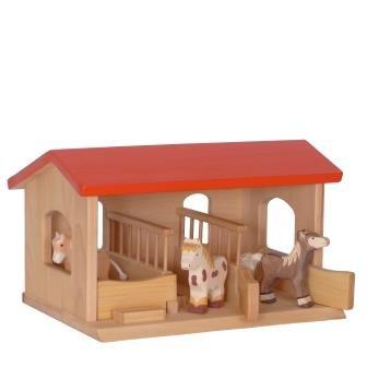 Holzspielzeug-Peitz Kinder-Bauernhof 4081 - Ranch - Kids-Farm - Pferdestall - Reitstall - Pferdebox