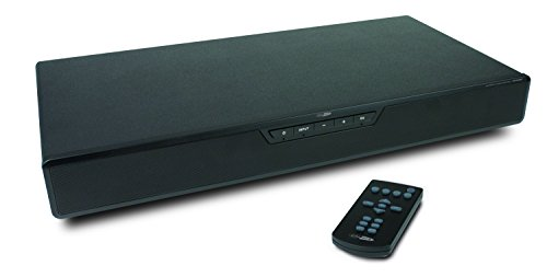 Caliber HFG508BT SoundPlate Soundbase 2.1 Kanal Sound System inkl. 2x Lautsprecher mit integrierter Subwoofer, EQ Setting, Fernbedienung (Bluetooth, 150 Watt, RCA Stereo Eingang, 3,5 mm Klinke, digitaler Koaxialeingang, optischer Eingang) schwarz