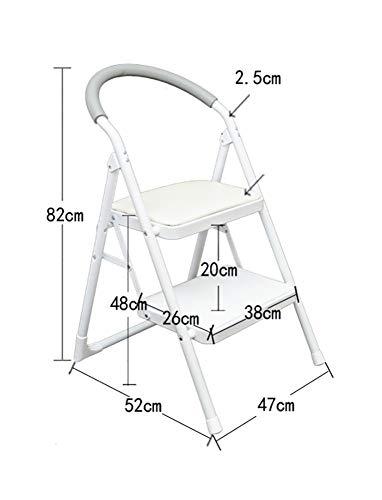 Stap kruk, training vouwen ladder met handvat Indoor draagbare ladder/opslag beugel Kleur: wit