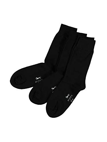 engbers Herren Formstabile Socken 3er Pack, 29486, Schwarz in Größe 46