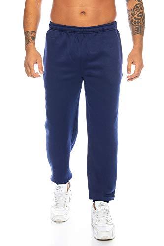 Raff & Taff Herren Hose M bis 6XL | Sporthose Sweatpants Pyjamas Übergrößen Funtionshose Trainingshose Jogginghose | Premium Baumwolle (Navy, 5XL)