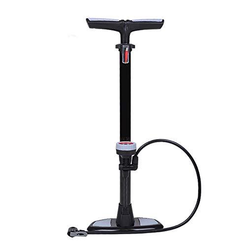 JIAGU Bomba de inflador de neumáticos para Bicicletas Bomba De Bicicleta En Posición Vertical con Barómetro Es Ligero Y Cómodo De Llevar Riding Equipment (Color : Black, Size : 640mm)
