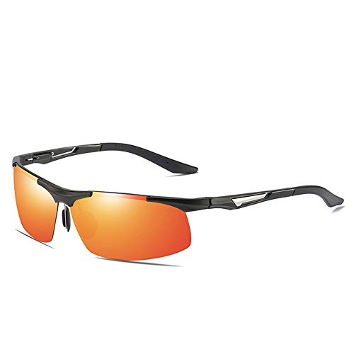 CXJC Gafas de sol polarizadas para Hombre Medio bastidor de aluminio y...