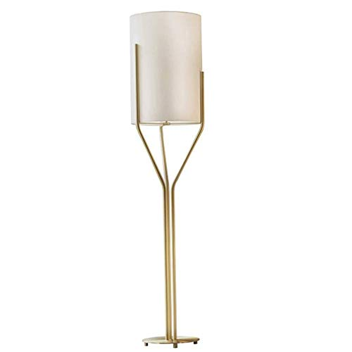 Tatane vloerlamp voor binnen, goudkleurig, ledlamp, stoffen kap, moderne ledlamp, voor woonkamer, werkkamer, sofa, zijde, kantoor, licht