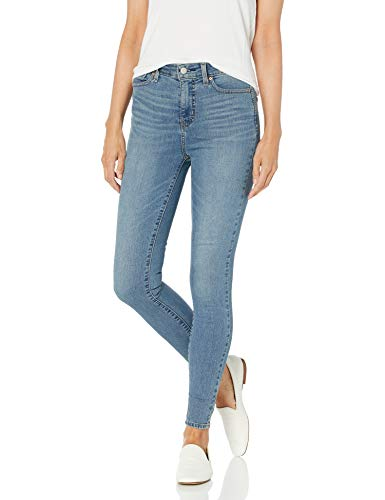 Signature by Levi Strauss & Co. Gold Label Women's Totally Shaping High Rise Skinny Jeans, Blue Ice, 6 Long