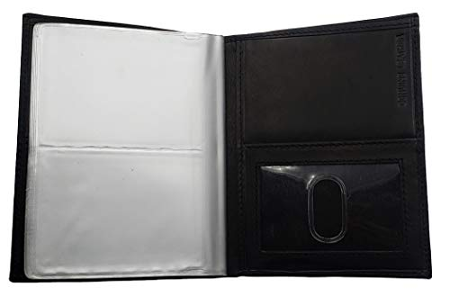 ag wallets RFID Signal Blocking Leather European Hipster Wallet, Black, 5 x 4.5-Inch