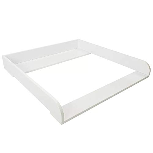 PuckDaddy Cambiador Moritz – 80x78x10cm, accesorio para cambiador para cómodas de IKEA Malm, incl. montaje para pared