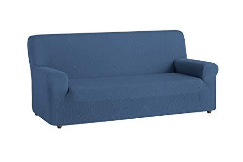 Textilhome - Copridivano TEIDE Elasticizzato, Taglia 3 Posti - Fodere Protettiva - 180 a 240 cm. Colour Blu