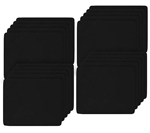(20 Pack) 2MM Thickness Speed Rubber Mouse Pad Black 1030 Skid Resistant -Black