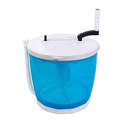 Portable Manual Non-Electric Washing Machine and Clothes Spin Dryer, Crank handle Counter Top Washer/Dryer for Camping, RV's,Apartments