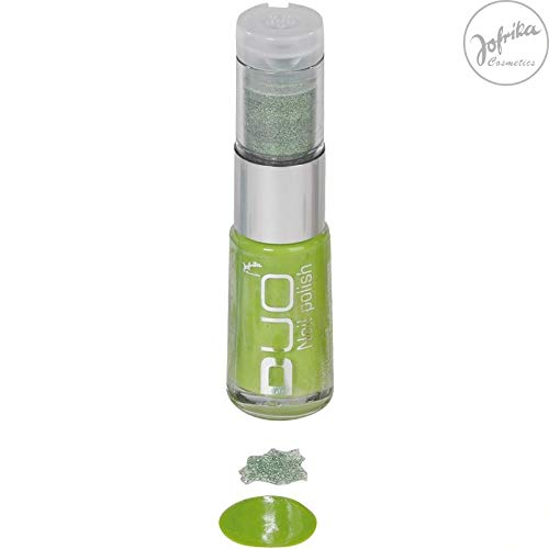 Nagellack - 8 ml - mit Glitter - grün