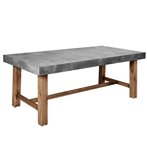 Rendez vous déco Table rectangulaire Birdie 200 cm en béton
