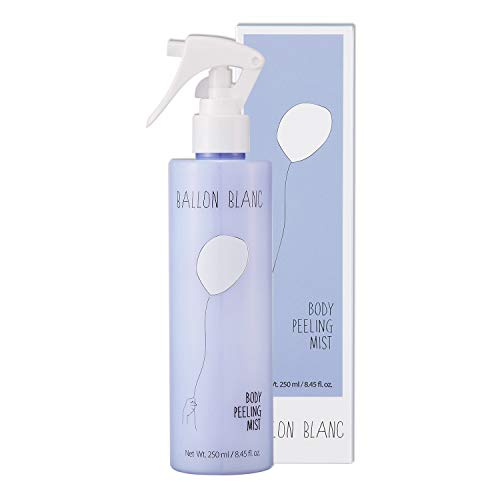BALLONBLANC Skin Softening Mild Body Scrub Exfoliator Peeling Gel Spray Formulated with Botanical Extracts Green Tea,Tea Tree,Aloe Vera & Olive 250ml