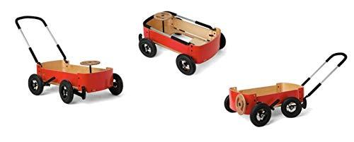 Ausstellungsstück Wishbone Wagon mit luftgefüllten Reifen - 3 in 1 - Bollerwagen für Kinder, als Seifenkiste oder Rutscher