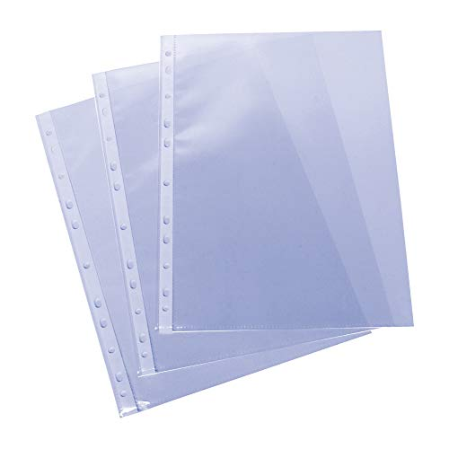Grafoplas 5576700. Pack de 100 Fundas Multitaladro A4, Polipropileno Estándar, Color Transparente, Piel Naranja ✅
