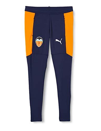 PUMA Uni Jogginghose VCF Training Pants w/Zip Pockets and w/Zip Legs Jr, Peacoat-Puma White, 176, 758353