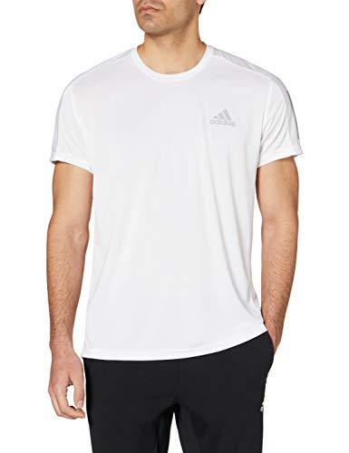 adidas Herren T-Shirt Own The Run T-Shirt, White/Refsil, XL, GC7868