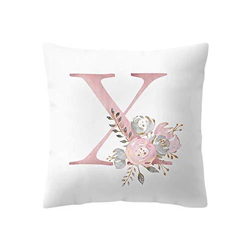 Nyfcc Pillowcase, 45x45 cm Kinder Zimmer Dekoration Brief Kissen Englisch Alphabet pillowcases, Home & Garden (Color : -, Size : -)