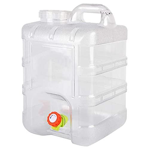 MIAOKU 20L Cubo de Agua al Aire Libre con Grifo, Portátil Agua Pura Cubo De Agua Potable Carrito De Almacenamiento Pegarra El Tanque De Agua para Acampar Send, para Camping