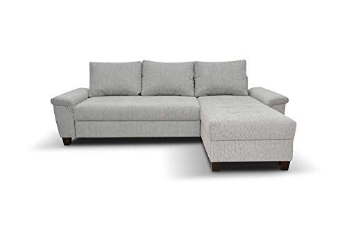 Domo Collection Ethan Ecksofa | Polsterecke L-Form Eckcouch | 248x158 cm | Kleine Sofa Wohnlandschaft in grau