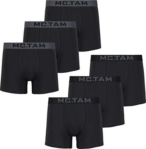 MC.TAM® Herren Boxershorts 95% Baumwolle(Oeko Tex® Standard 100) 6er Pack Ergonomische Passform Unterhosen Männer Unterwäsche Set, M, 6er Pack P3