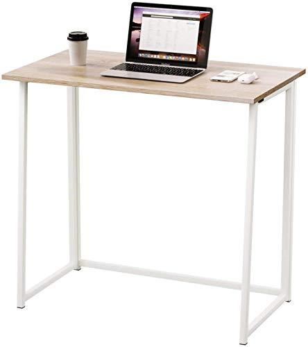 XPuing Escritorio, mesa plegable para ordenador, mesa de oficina, mesa de trabajo, mesa plegable para casa, oficina, mesa para espacios pequeños, oficinas (80 x 45 x 75 cm)