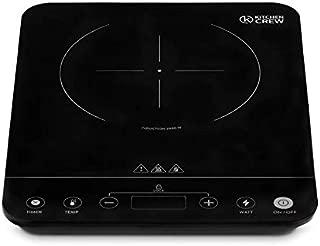 Plaque à Induction Portable en Vitrocéramique Touch Control, Affichage LED - 1 Foyer, 1 Zone à Induction, 2000W