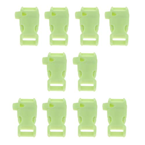 Baoblaze 10 Piezas Hebillas de Silbato de Liberación Lateral Contorneadas para Pulseras de Paracord