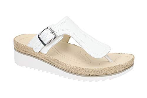 Gabor Damen Pantoletten - Zehentrenner Pantolette 23.726 Best Fitting 23.726.21 Weiß, EU 40
