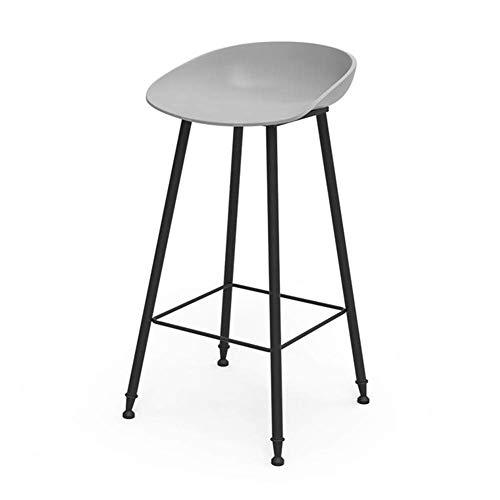 F2 barkruk kruk barkruk smeedijzeren statafel stoel cafe barkruk voorzijde kruk (kleur: wit maat: 75 cm) 65CM grijs