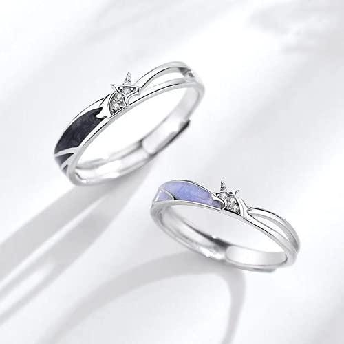 Qudbsw S925 Sterling Silber Mura Paar Ring EIN Paar koreanische einfache Mode Student Männer und Frauen, um Jindong Gift Love Festival Geschenk klingeln
