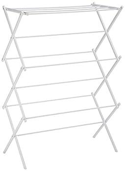 Amazon Basics Foldable Laundry Rack for Air Drying Clothing - 41.8 x 29.5 x 14.5 White