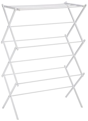 Amazon Basics Foldable Clothes Drying Laundry Rack - White