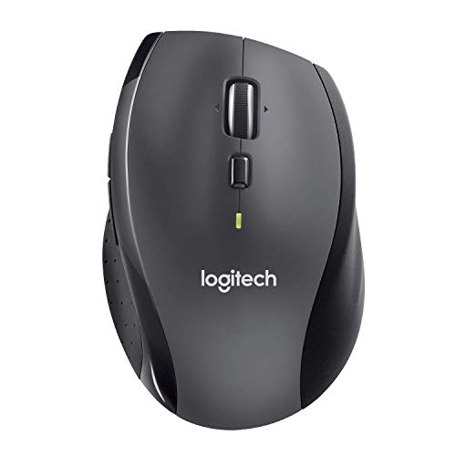 Logitech M705 Marathon Wireless Mouse, 2.4 GHz with USB Unifying Mini-Receiver, 1000 DPI Laser Grade Tracking, 7-Buttons, Extra Thumb Buttons, 3-Year Battery Life, PC / Mac / Laptop - Black (Renewed)