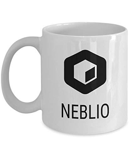 Officiell Neblio kryptovalutemugg akryl kaffehållare vit 325 ml kryptovuvarbetare blockkedja investering handel köp sälj håll NEBL