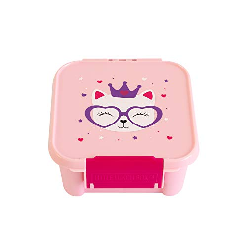 Little Lunch Box Co. Mini Snackbox für Kinder mit Unterteilungen | Bento Box | Brotdose (Kitty)
