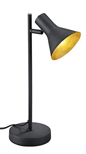 Reality Leuchten R50161002 Tischleuchte, Metall, schwarz / gold