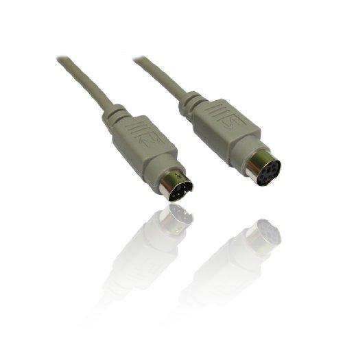CDL Micro 3 m PS2 PS/2 toetsenbord/muis M-F mannelijke naar vrouwelijke verlengkabel - Grijs
