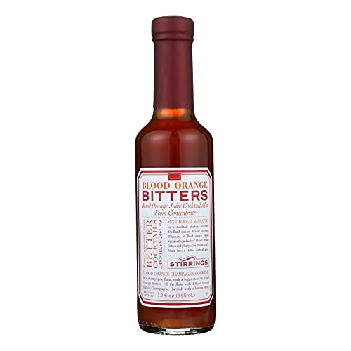 Stirrings All Natural Blood Orange Cocktail Bitters - 12 ounce bottles | Pack of 6