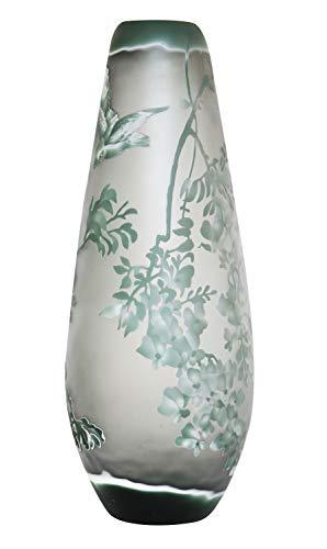 aubaho Vase Replika nach Galle Gallé Glasvase Glas Antik-Jugendstil-Stil Kopie e