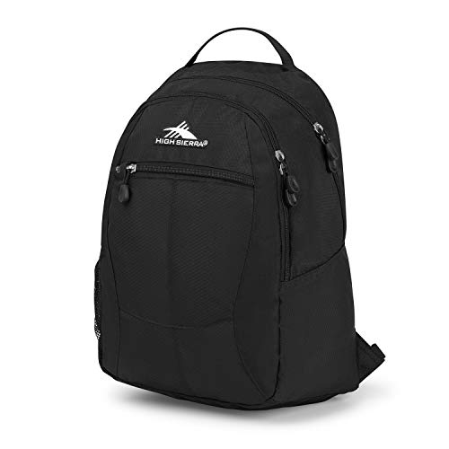 High Sierra Curve Backpack, Black (Black/Black/Black), 18.5 x 12.5 x 8.5-Inch