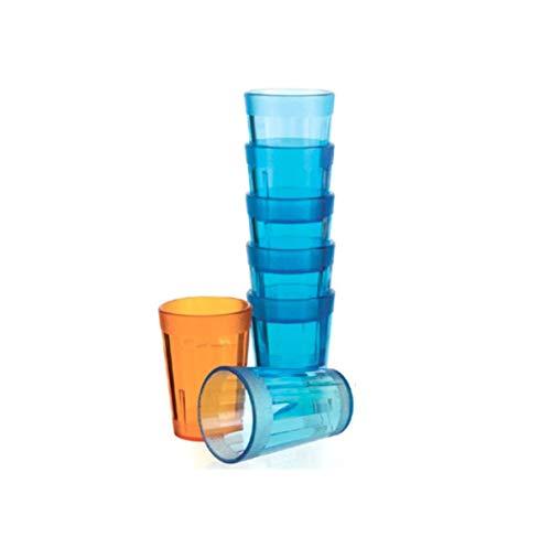 Visiodirect Boite de 12 Bobelets Bleu 25 cl