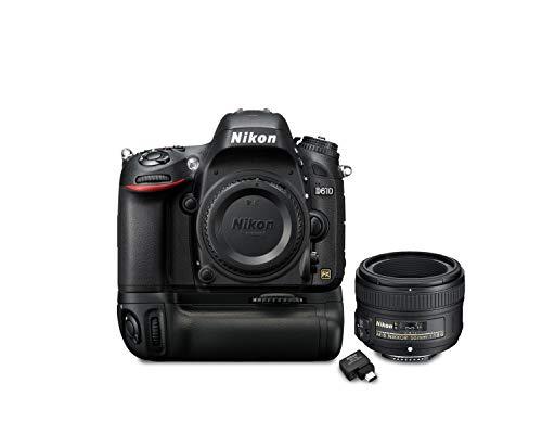 D610 w/50mm 1.8 Lens Battery Grip & Wi-fi Kit