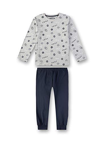 Sanetta Jungen Pyjama Zweiteiliger Schlafanzug, Grau (Silver Mel. 1560), (Herstellergröße: 116)