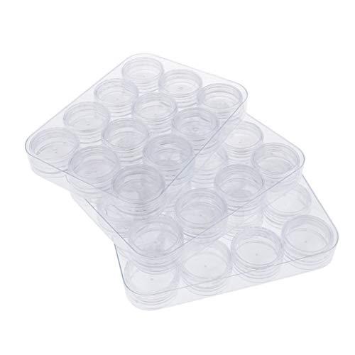 Colcolo Caja de Almacenamiento de Joyero, Almacenamiento Y Protección de Plástico