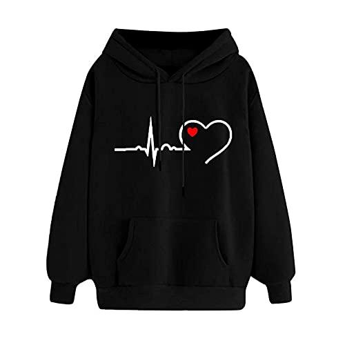Hoodie for Women - Women Loose Long Sleeve Hooded Sweatshirt Plus Size Casual Printed Pullover Top Sweatshirt Blouse -  Clearance!Hot Sale!Cheap!, Clearance!Hot Sale!Cheap!