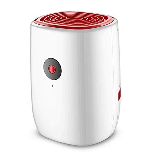 Deshumidificador para el deshumidificador casero Deshumidificadores eléctricos compactos y portátiles para el baño húmedo con condensación del Dormitorio (Rojo)