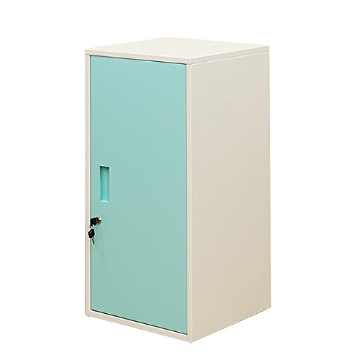 レンジ曖昧な契約したキューブBOX鍵付ロッカーハイタイプ 扉付き収納 ブルー JAC-06BL